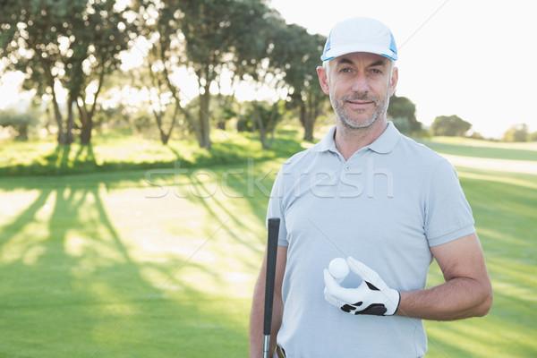 красивый гольфист Постоянный мяч для гольфа гольф Сток-фото © wavebreak_media