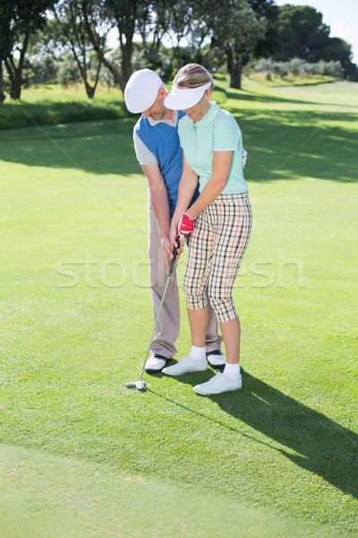 Człowiek partnerem zielone golf Zdjęcia stock © wavebreak_media