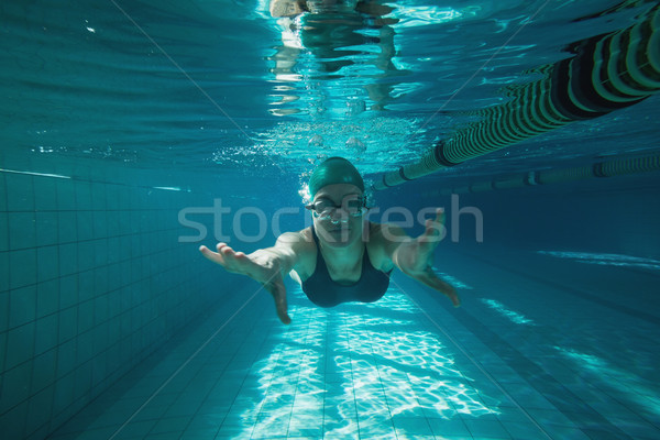 アスレチック スイマー スイミング カメラ スイミングプール レジャー ストックフォト © wavebreak_media