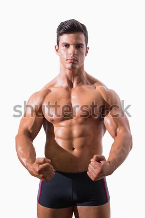 Foto stock: Retrato · muscular · homem · moço · saúde · músculo