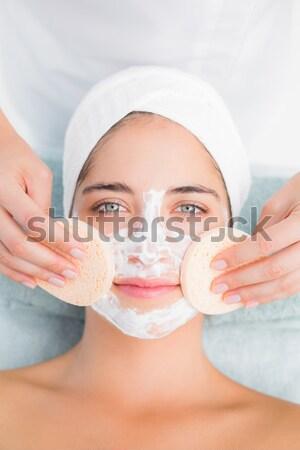 Bianco crema faccia primo piano spa Foto d'archivio © wavebreak_media