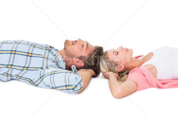 Attractive young couple sleeping peacefully Stock photo © wavebreak_media