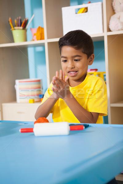 Cute мало мальчика играет глина классе Сток-фото © wavebreak_media
