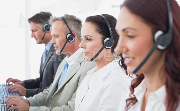 Centre d'appel travailleurs femme équipe communication Photo stock © wavebreak_media