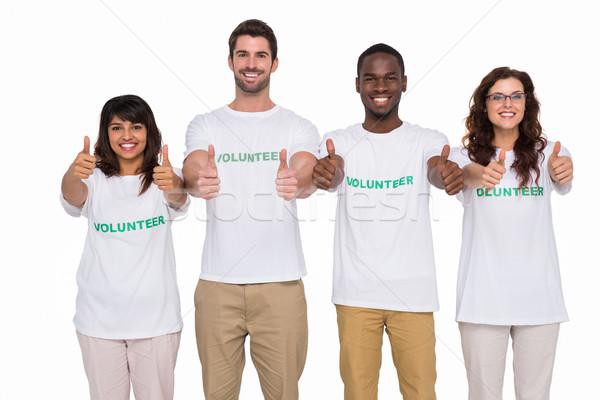 Pozitív csapatmunka mosolyog remek fehér kommunikáció Stock fotó © wavebreak_media