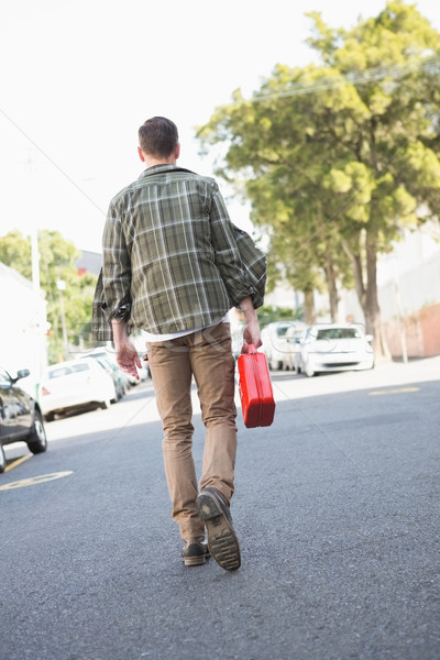 Man bringing petrol canister to a broken down car Stock photo © wavebreak_media