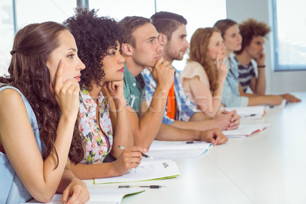 Mode élèves attentif classe collège femme Photo stock © wavebreak_media