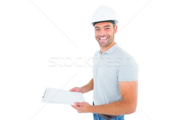 Portret werknemer witte Stockfoto © wavebreak_media