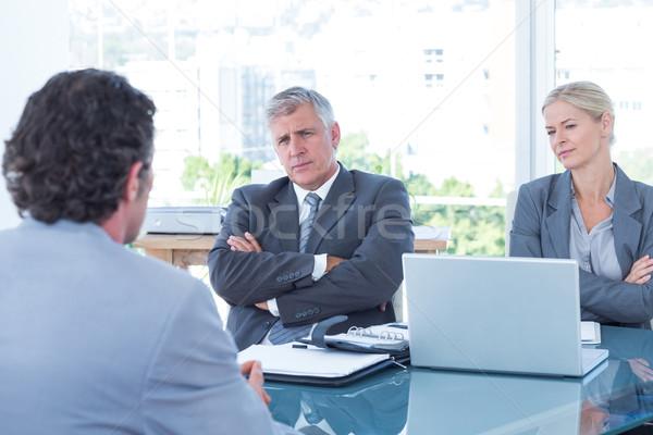Pessoas de negócios entrevista escritório homem laptop tecnologia Foto stock © wavebreak_media