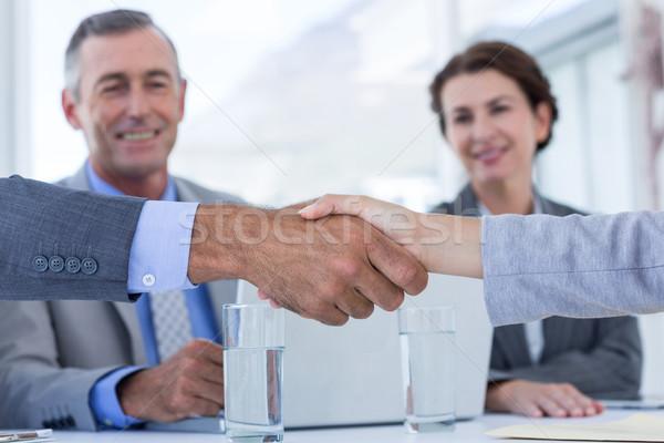 インタビュー パネル リスニング 申請者 オフィス ビジネス ストックフォト © wavebreak_media