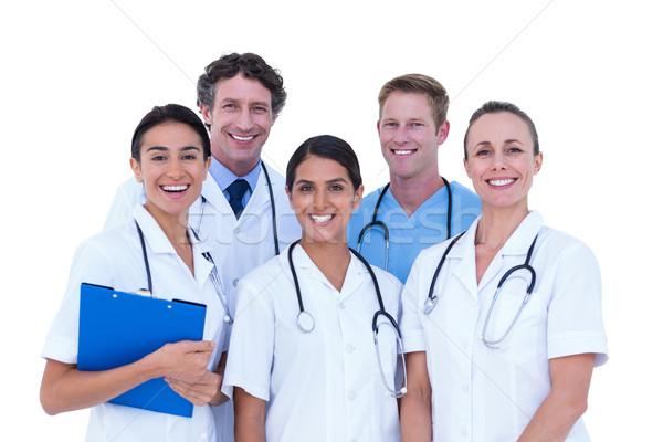 Artsen verpleegkundige permanente samen witte vrouw Stockfoto © wavebreak_media