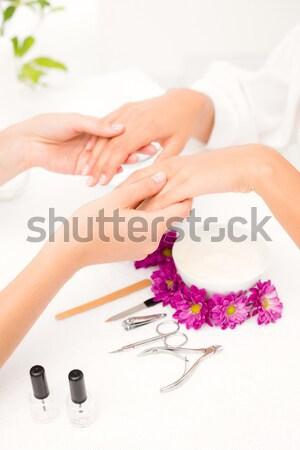 Woman getting her toenails painted Stock photo © wavebreak_media