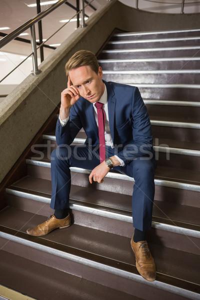ビジネスマン 座って 手順 オフィスビル 建物 ストックフォト © wavebreak_media