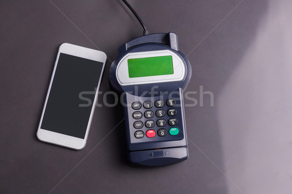 Overhead of pin terminal and smartphone Stock photo © wavebreak_media