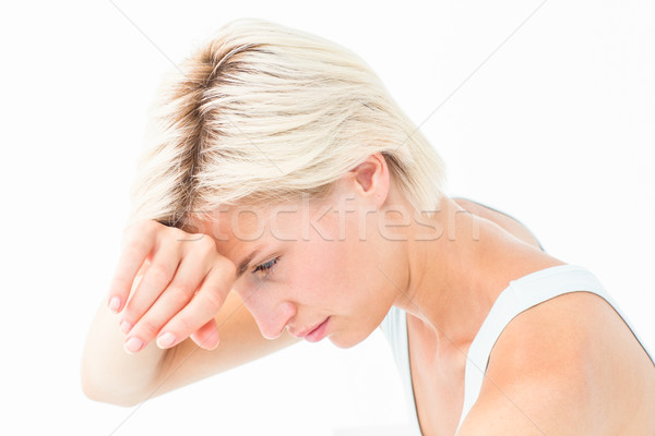 Sad woman crying with hand on forehead  Stock photo © wavebreak_media
