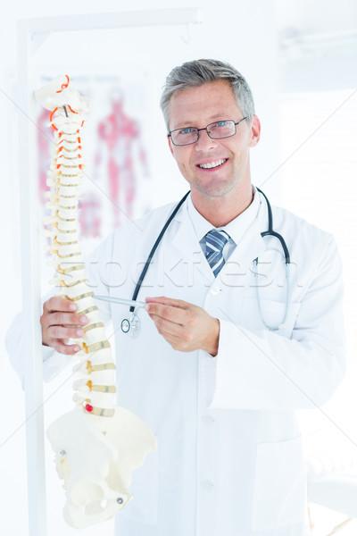 Médico anatómico espina pluma oficina Foto stock © wavebreak_media