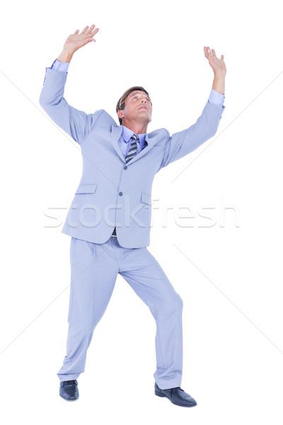 бизнесмен небе белый корпоративного рубашку Сток-фото © wavebreak_media