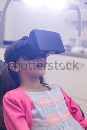 школьник виртуальный реальность очки классе школы Сток-фото © wavebreak_media