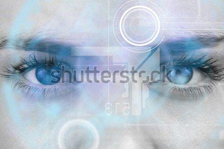 Close up of eye in process of scanning Stock photo © wavebreak_media