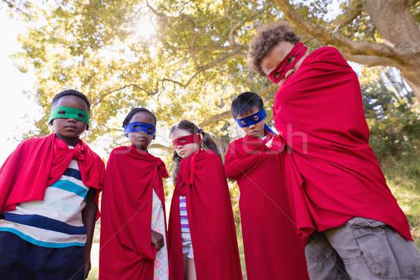 друзей superhero костюмы Постоянный Сток-фото © wavebreak_media