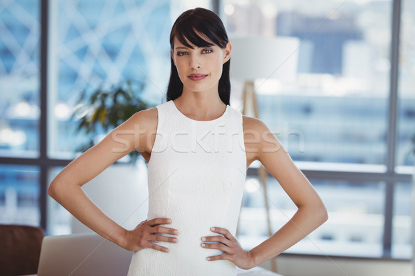 Portrait of confident executive stnding with hands on hip Stock photo © wavebreak_media
