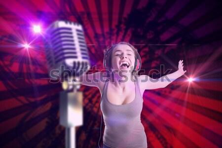 女性 歌手 ナイトクラブ 音楽祭 ストックフォト © wavebreak_media