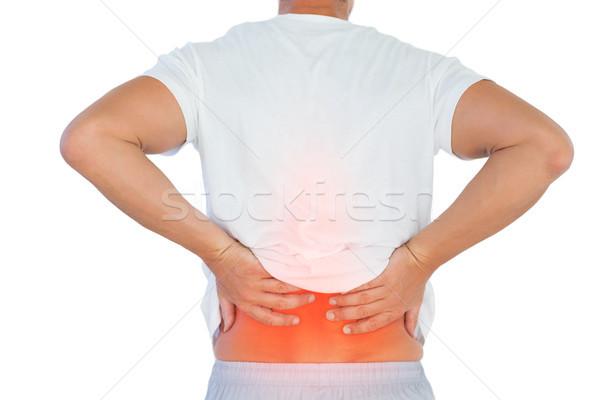 Digital composite kręgosłup człowiek biały ciało Zdjęcia stock © wavebreak_media