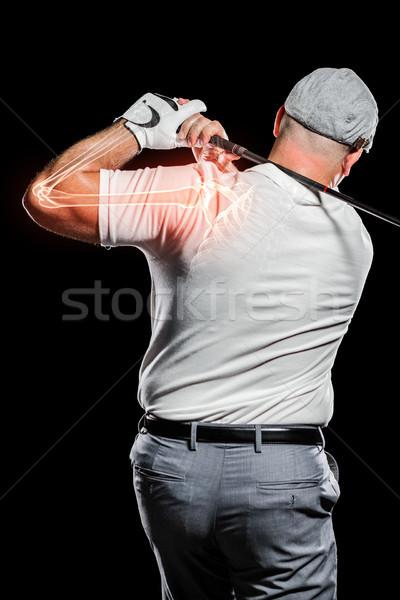 ストックフォト: ゴルファー · 演奏 · 黒 · デジタル · 画像