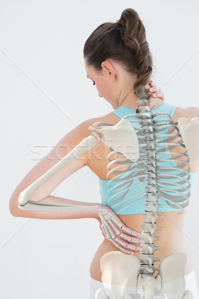 Digitally generated image of woman suffering from neck pain Stock photo © wavebreak_media