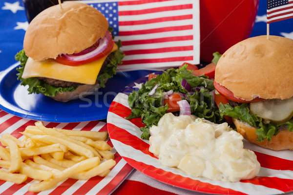 Snacks decorated with 4th july theme Stock photo © wavebreak_media