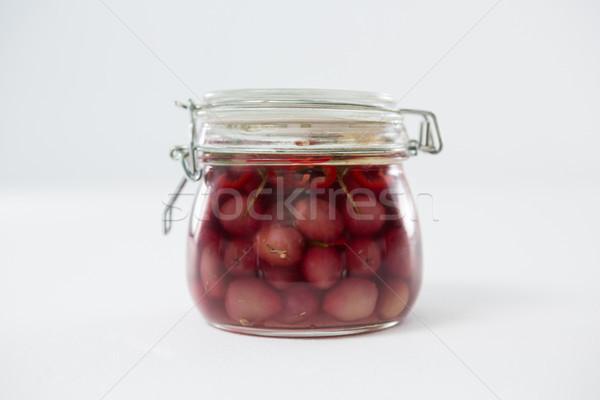 Preservative olives in jar Stock photo © wavebreak_media