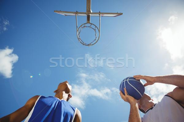 Widoku koszykówki gracze sąd Zdjęcia stock © wavebreak_media
