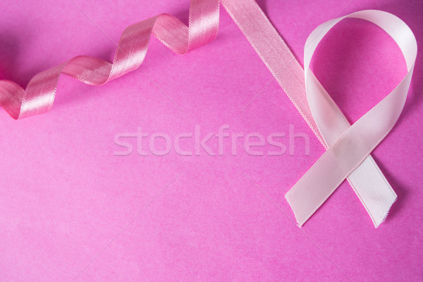 Vue cancer du sein ruban rose signe aiguille Photo stock © wavebreak_media