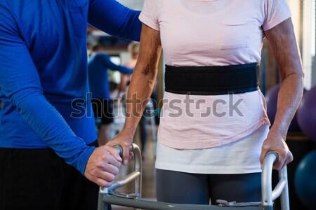 Joelho clínica mulher idoso dor Foto stock © wavebreak_media