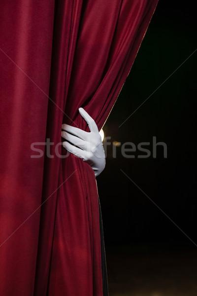стороны белый перчатка занавес Сток-фото © wavebreak_media