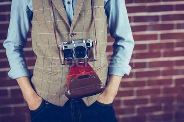 Midsection of photographer Stock photo © wavebreak_media