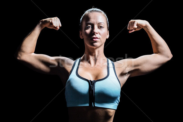 Atleta muscoli nero donna potere Foto d'archivio © wavebreak_media