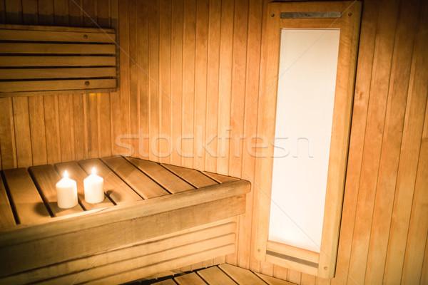 Kaarsen verlichting sauna spa Stockfoto © wavebreak_media