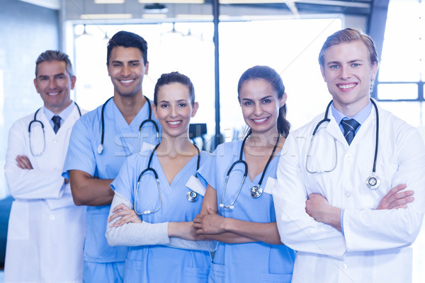 Portrait of medical team standing with arms crossed Stock photo © wavebreak_media