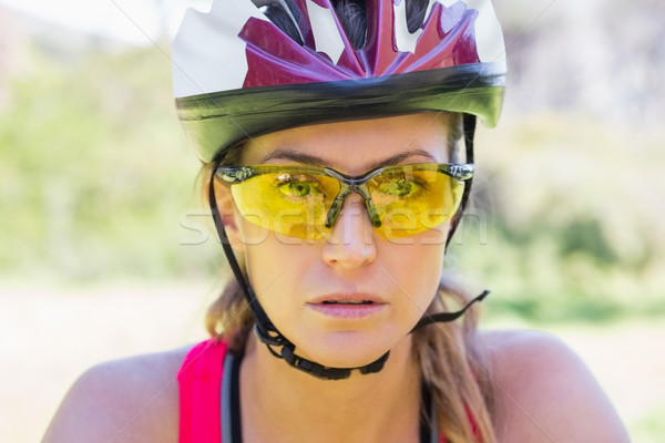 Focused woman cycling Stock photo © wavebreak_media