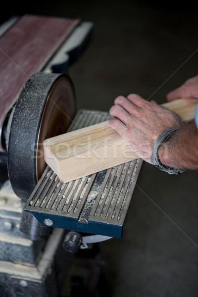 Marangoz çalışma tozlu atölye işçi stüdyo Stok fotoğraf © wavebreak_media