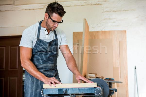 Stolarz pracy tekstury człowiek drewna naprawy Zdjęcia stock © wavebreak_media