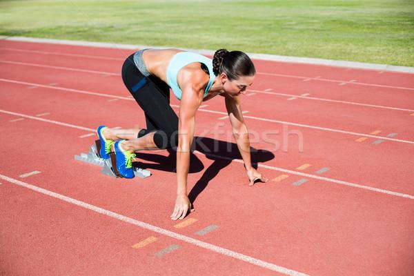 Femminile atleta pronto eseguire esecuzione brano Foto d'archivio © wavebreak_media