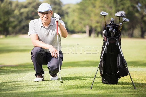 Golfer crouching and posing Stock photo © wavebreak_media