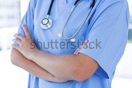 Doktor ayakta kol hastane kadın Internet Stok fotoğraf © wavebreak_media