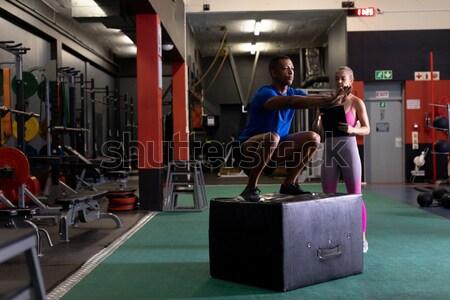 Feminino masculino boxeador em pé fitness estúdio Foto stock © wavebreak_media