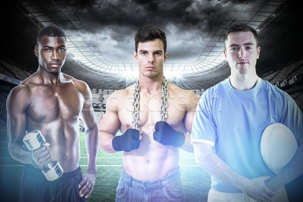 Obraz dopasować ludzi rugby stadion Zdjęcia stock © wavebreak_media