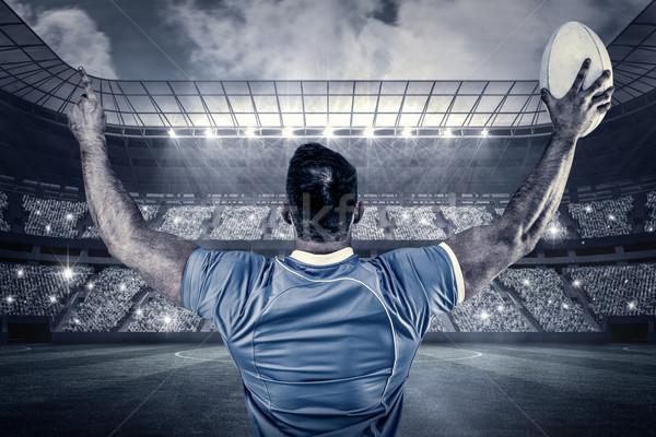 Afbeelding rugby speler juichen bal Stockfoto © wavebreak_media