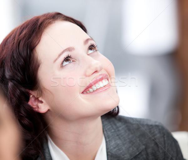 молодые улыбаясь заседание команда счастливым исполнительного Сток-фото © wavebreak_media