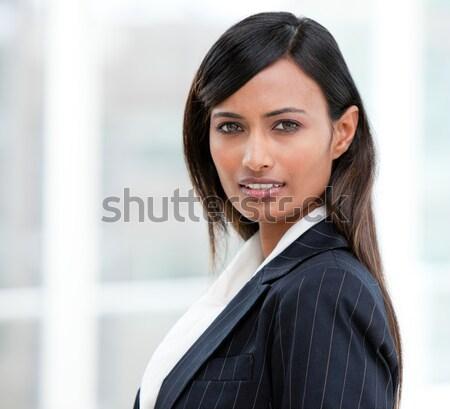 портрет харизматический деловая женщина Постоянный служба счастливым Сток-фото © wavebreak_media